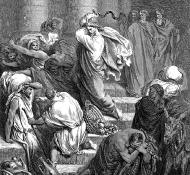 Jésus chassant les marchands du temple - Dore