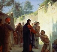 christ guérissant l'aveugle - Bloch
