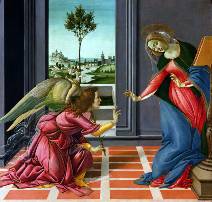 Annonciation - Botticelli Mormon